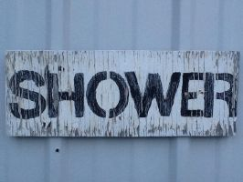 Shower sign by Canadaguy46