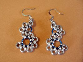 Stepping stone earrings by Tannalein