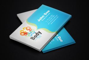 Fitness Instructor Free Business Card Template by BorceMarkoski