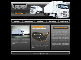 Trucking web site template by Player-Designer