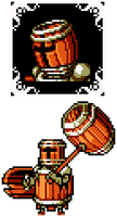 Shovel Knight OC - Barrel Knight by hfbn2