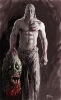 Beowulf with severed head by Beucephalus