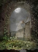 PREMIUM background - A Medieval-Place5b by Euselia