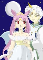 Chibiusa and Helios by AmyroseHaruka