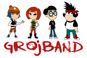 .:Grojband Sticker Set:. by GreaserMelons