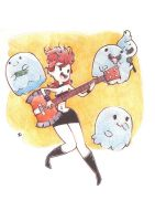 Marceline nd the ghost buddies by dustrain
