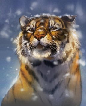 Snowy Tiger by Pixxus