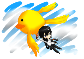 Flying - Chibi Hibari by IK0LUESI