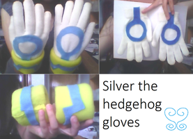 Silver the hedgehog gloves by Sweetgirl333