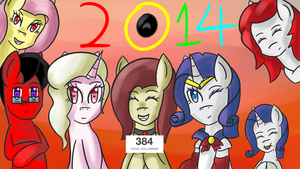 Happy New Year 2014 (Ask Bloodershy) by Wolfy-Pony