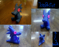 Inspector Berrybreath - clay by KMoonleaf