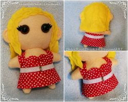 Carrie Hope Fletcher Chibi Plushie by ChloeRockChick14