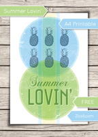Summer Lovin' A4 Printable by MysticEmma