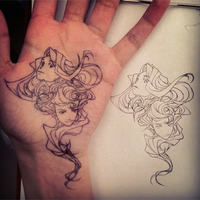 Ink on Palm_3 by Nora-Albaqshi