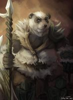 Panda Warrior by RalphTheFeline