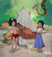 Jungle Book - Louie's Servants by Trishbot