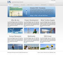 Wind Turbine Business Web Site by cmgllp