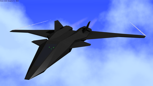 Talon UCAV aerospace fighter render 2 by doug7070