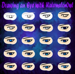 20 Steps to Draw an Eye by WatermelonOwl
