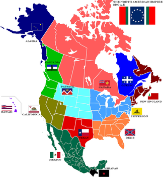 Map of North American Empire by lamnay
