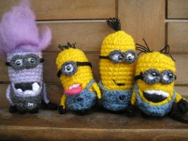 Minions 02 03 04 and Mean Minion by DimitrasArts