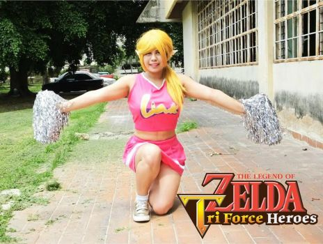 TriForce Heroes: Link cheer outfit cosplay by siul-universe