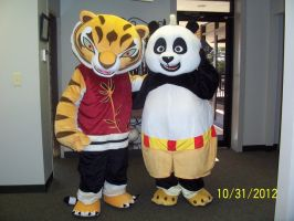 Master Tigress and Kung Fu Panda Costumes by MrEd301