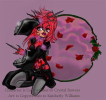 Rose: The Goth HedgeHog by nearria