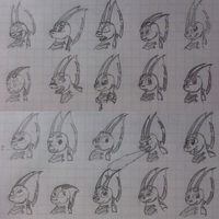 Flay expression sketches by WingedWilly