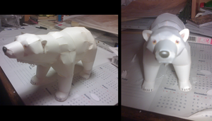 Papercraft: Polar Bear by Tsunaide