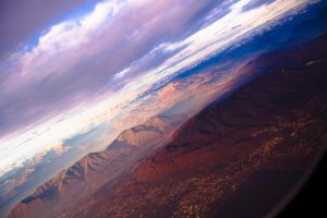 sunset over alps by tiberiunedelea