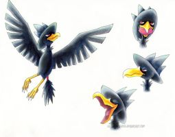 Murkrow character sheet by luminoustigress