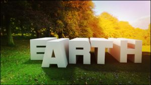 Earth Text in 3D by sh4dow01