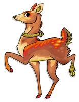 Deer design by griffsnuff