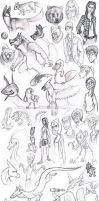 Sketch Dump (mostly camping) by WforWumbo