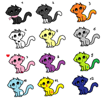 Adorable  FREEE Kitty Cat Adopts! ALL GONE! :( by superstel