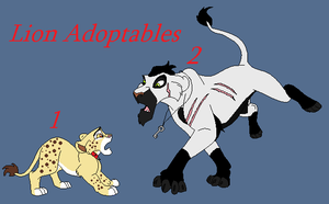 Lion Adoptables! by BlackWolf1112-ADOPTS