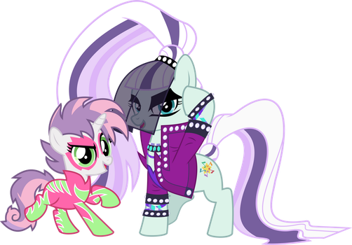 MLP Vector - Countess Coloratura and Sweetie Belle by jhayarr23
