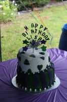Topsy Turvey 21st Cake by The-Ice-Flower