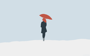 Minimalistic Umbrella Girl by LucasJMoore