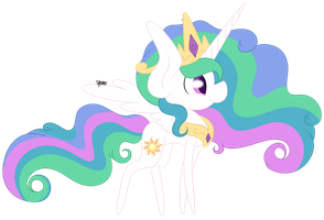 Chibi Celestia by spottie-dots