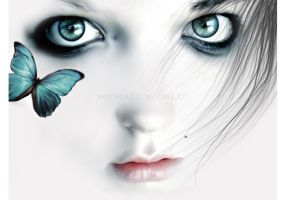 butterfly eyes by ArtbyMikeDaleDesigns