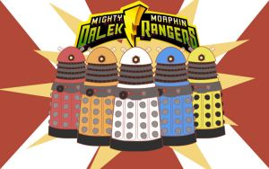 GO GO DALEK RANGERS by Theyellowfish