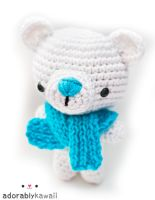 polar bear amigurumi by adorablykawaii