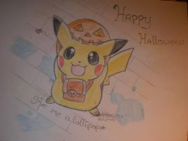 Pikachu - Give me a lollypop by I-Love-Ghost-Writer