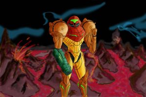 Samus Aran colored version by Mobius-One