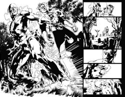Blackest Night Double Page by TheVatBrain