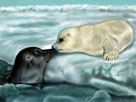 Arctic Kiss by animalartist16