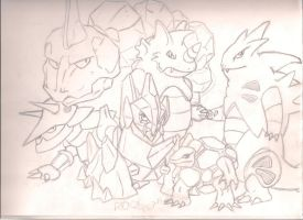 """Rock Team """"Sketch"""" by LostHelix119"""