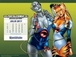 Pantra y Tigra by PortalComic